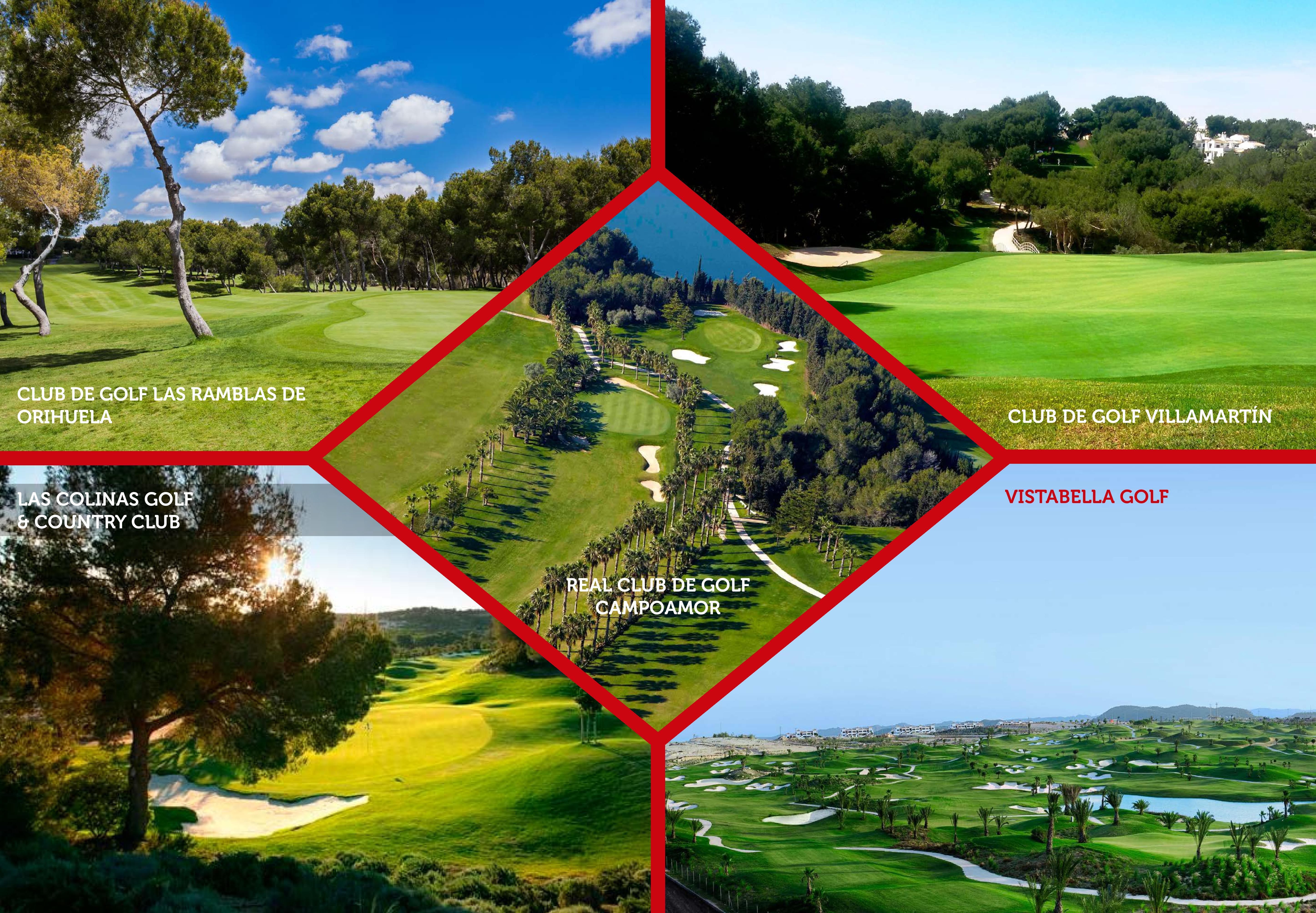 Orihuela a les meilleures et les plus importantes offres de golf de la Méditerranée. Un total de 90 trous composent ses cinq excellents parcours de golf, de prestige international reconnu, qui accueillent d'importants tournois européens.